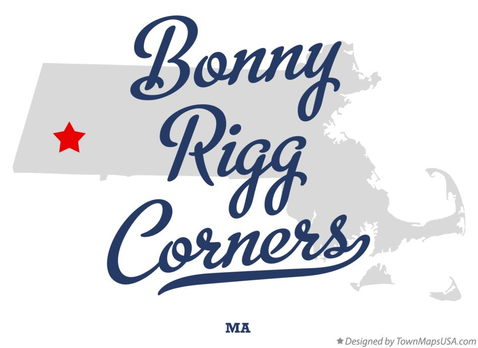 Map of Bonny Rigg Corners Massachusetts MA