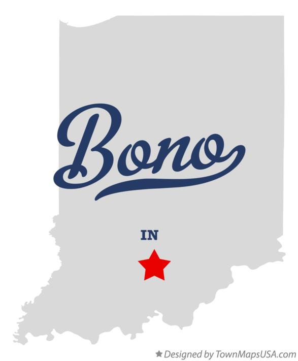 Map of Bono Indiana IN