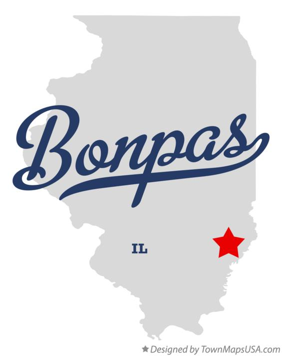 Map of Bonpas Illinois IL