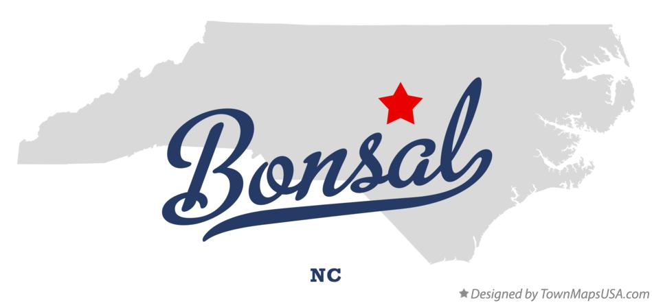 Map of Bonsal North Carolina NC