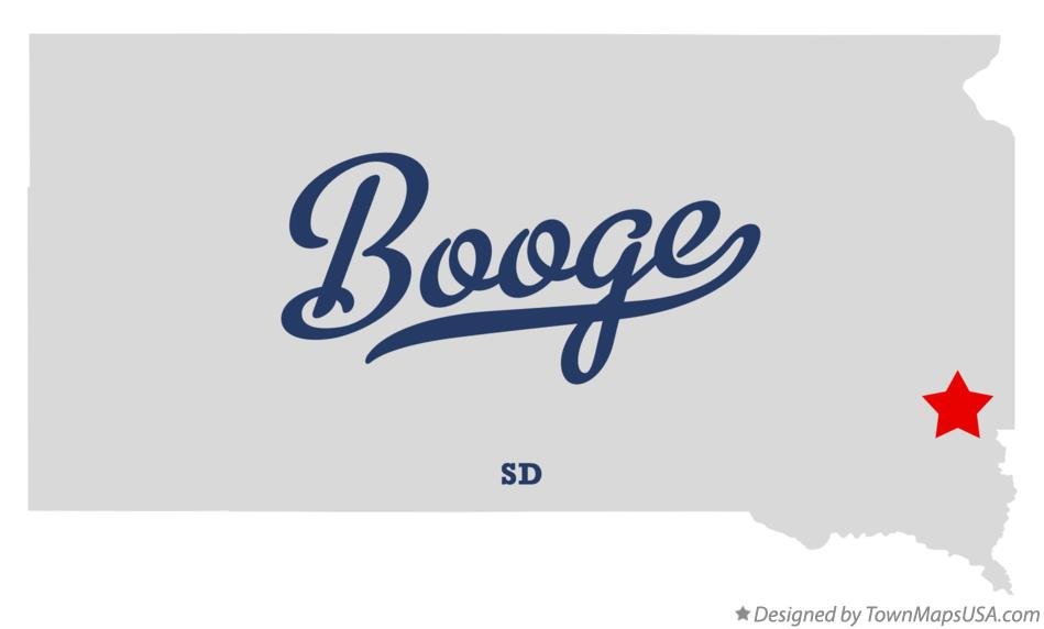 Map of Booge South Dakota SD