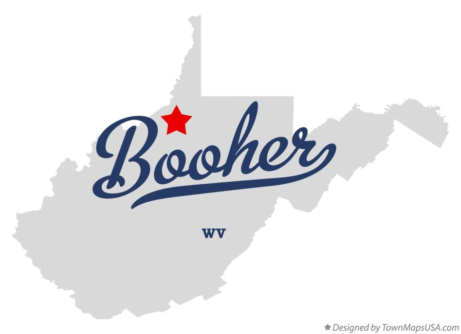 Map of Booher West Virginia WV