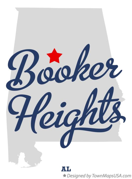 Map of Booker Heights Alabama AL