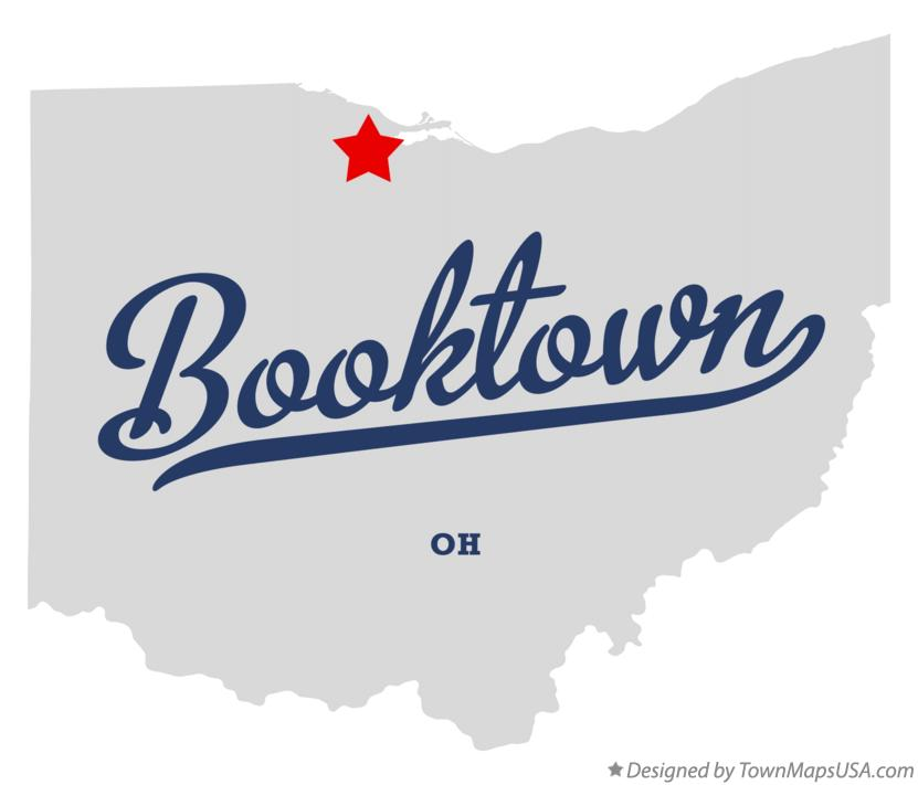 Map of Booktown Ohio OH