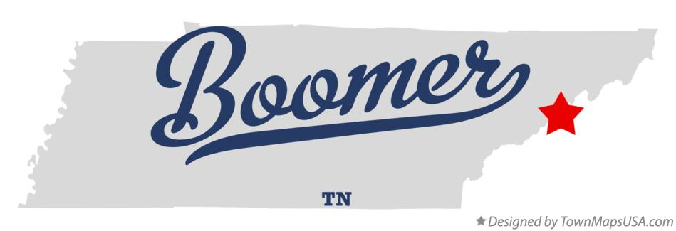 Map of Boomer Tennessee TN