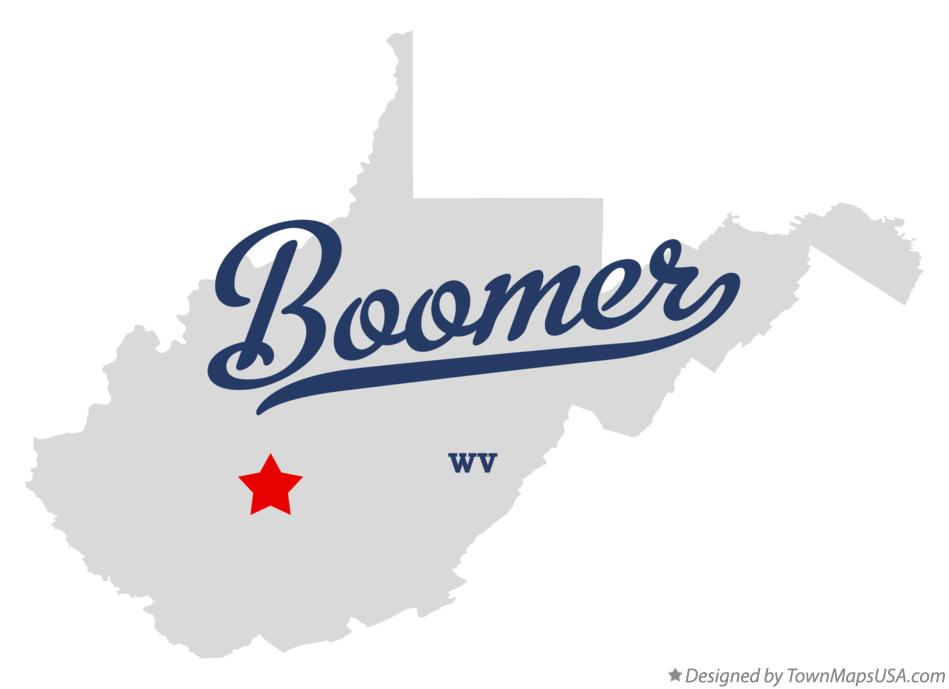Map of Boomer West Virginia WV