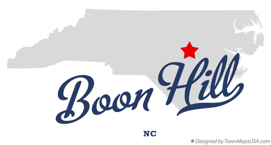Map of Boon Hill North Carolina NC