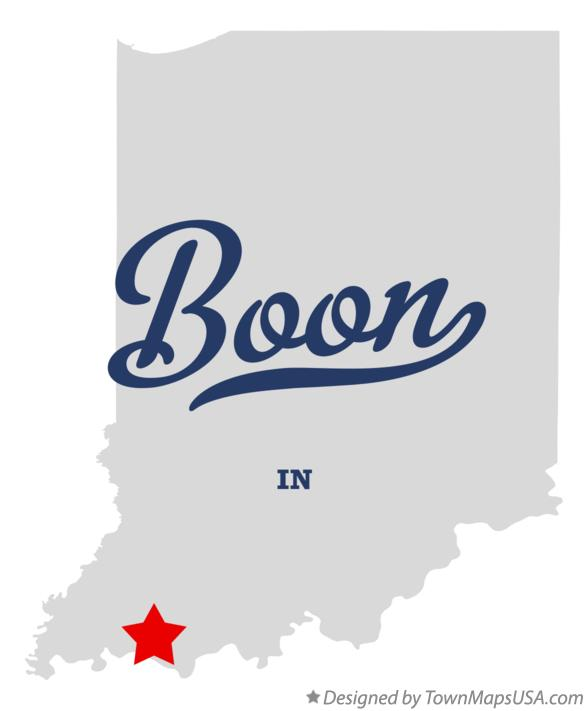 Map of Boon Indiana IN