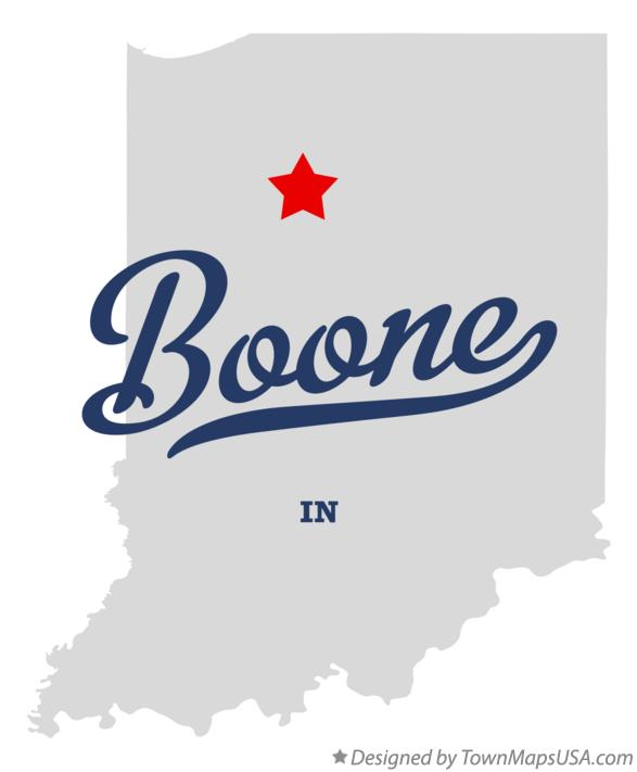 Map of Boone Indiana IN
