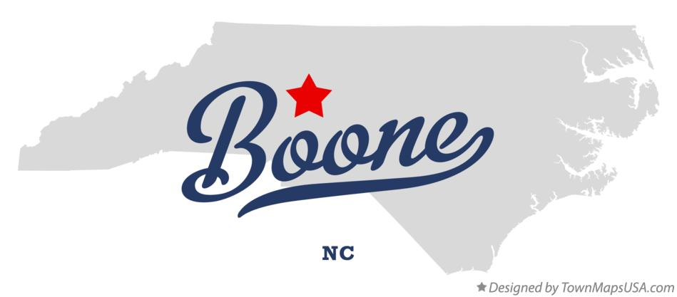 Map of Boone North Carolina NC
