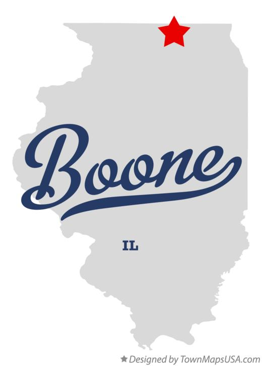 Map of Boone Illinois IL