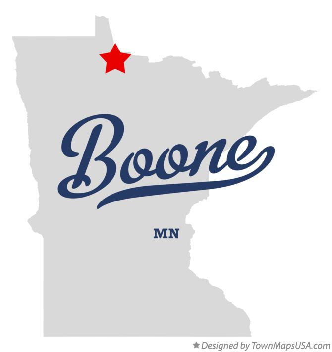Map of Boone Minnesota MN