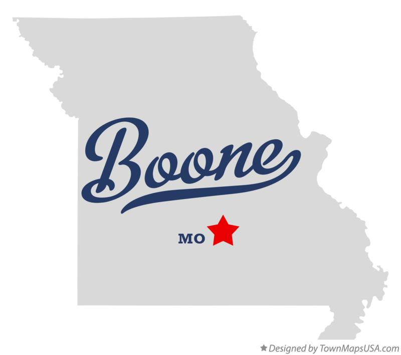 Map of Boone Missouri MO