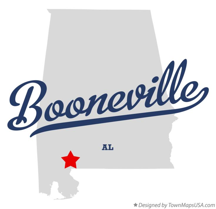 Map of Booneville Alabama AL