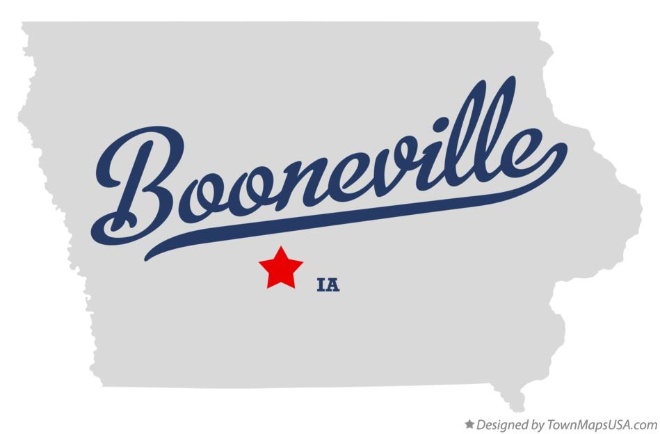 Map of Booneville Iowa IA