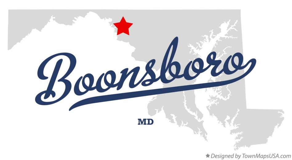 Map of Boonsboro Maryland MD