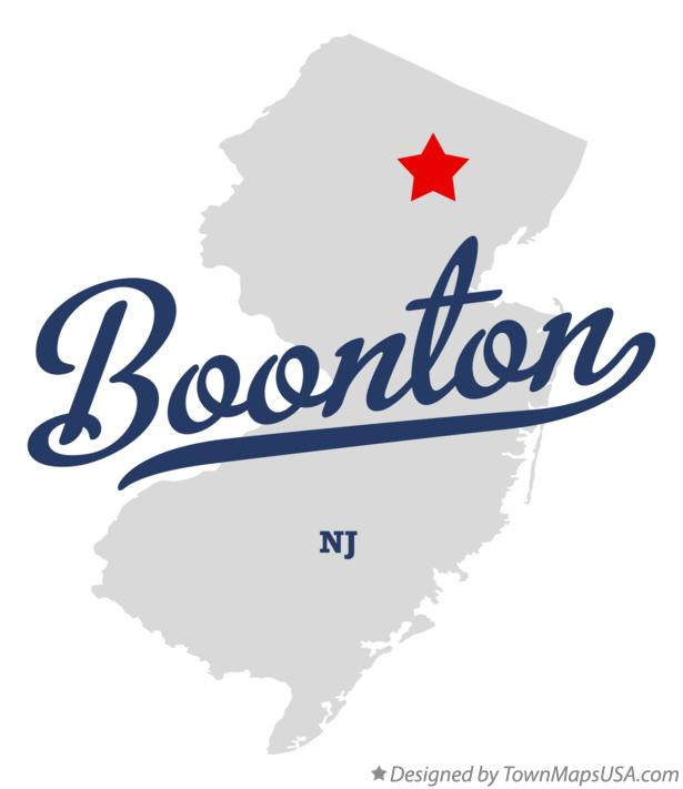 Map of Boonton New Jersey NJ