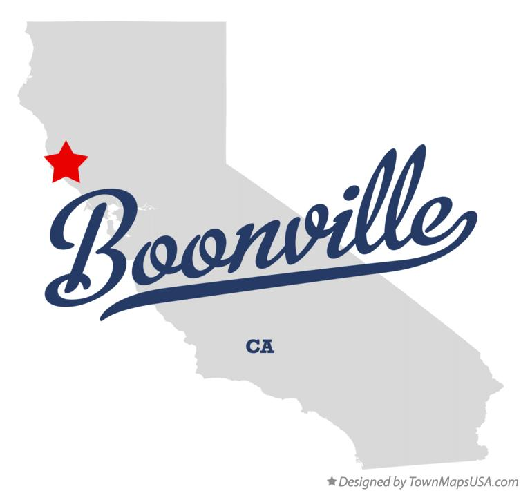 Map of Boonville California CA