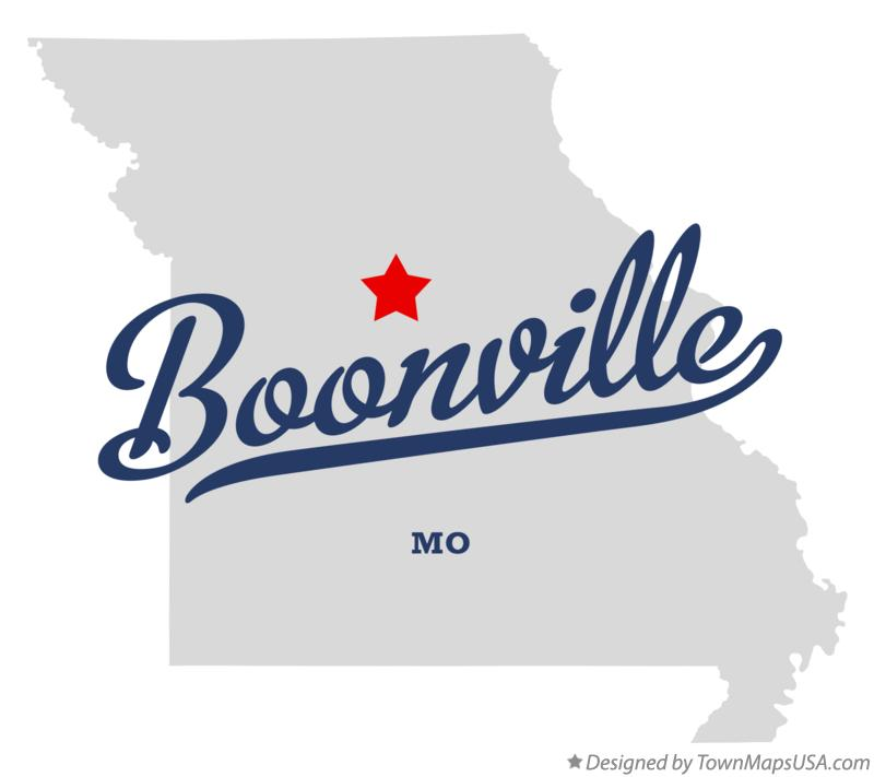 Map of Boonville Missouri MO