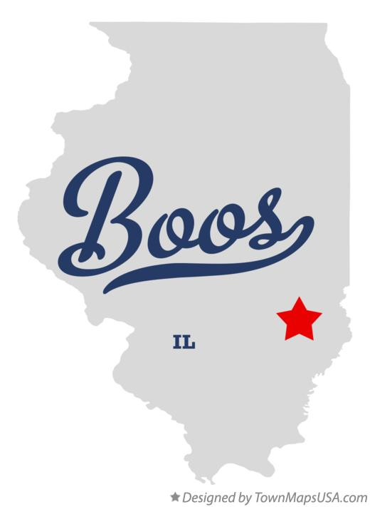 Map of Boos Illinois IL