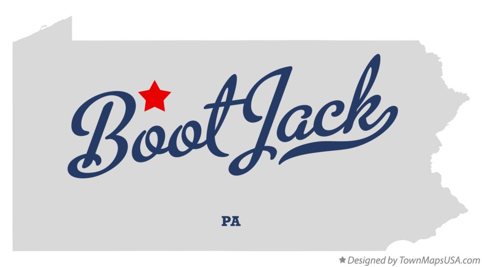 Map of Boot Jack Pennsylvania PA