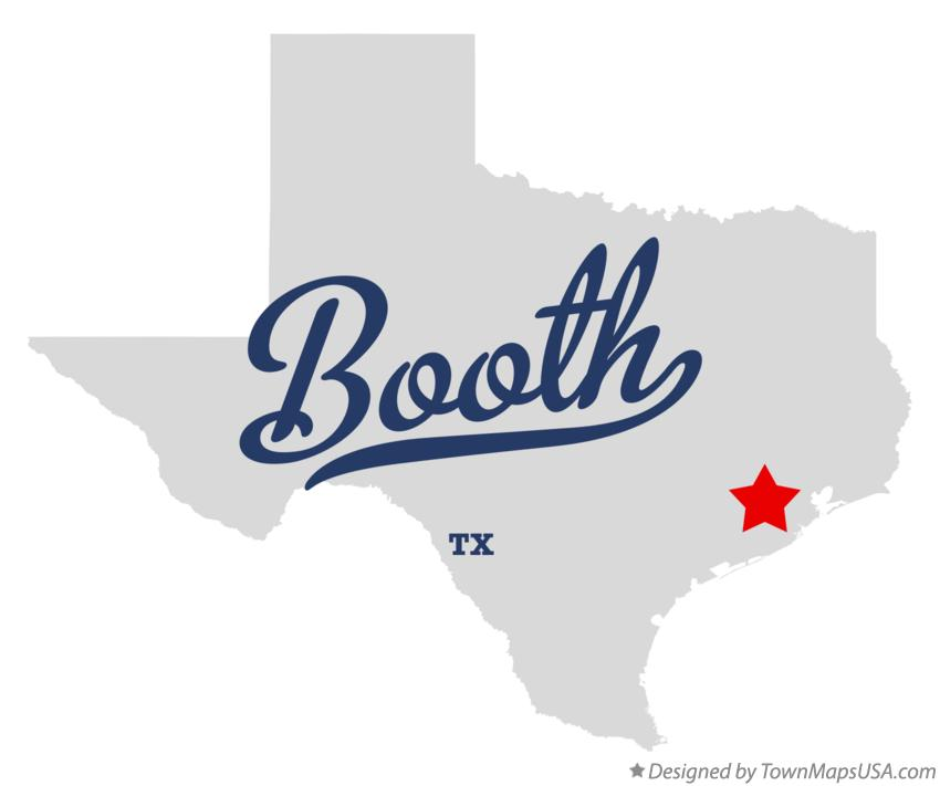 Map of Booth Texas TX