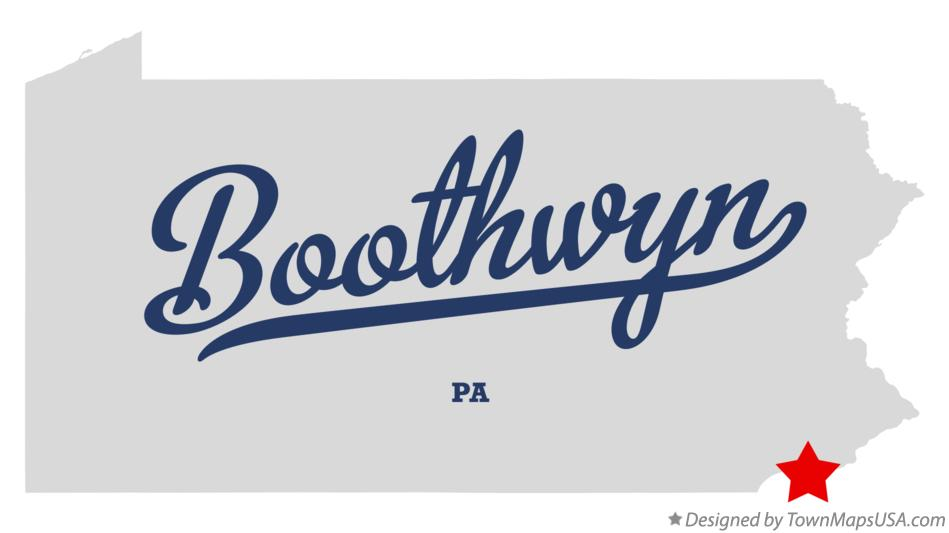 Map of Boothwyn Pennsylvania PA