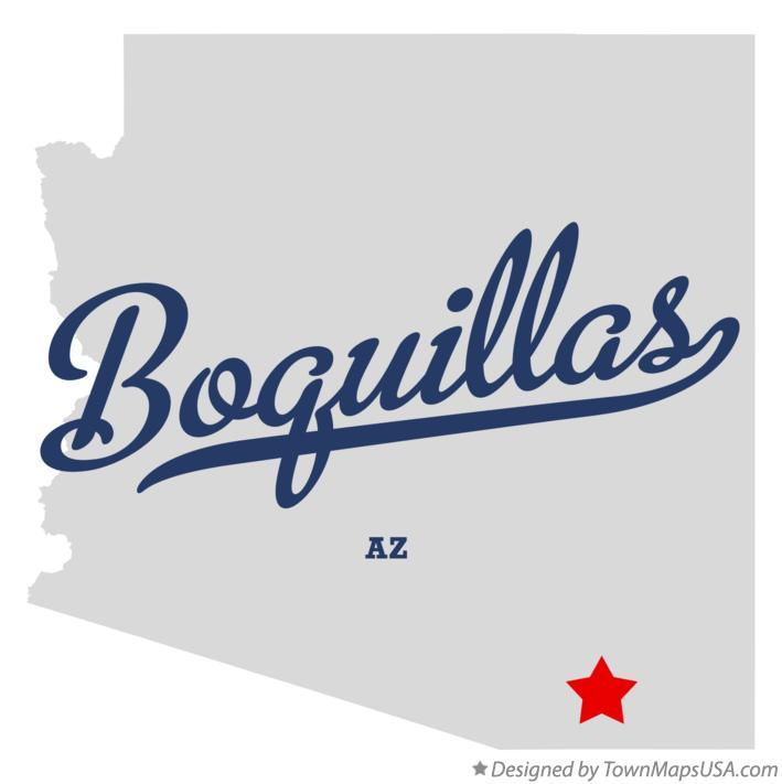 Map of Boquillas Arizona AZ