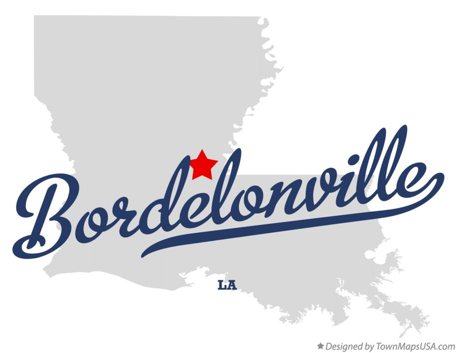 Map of Bordelonville Louisiana LA