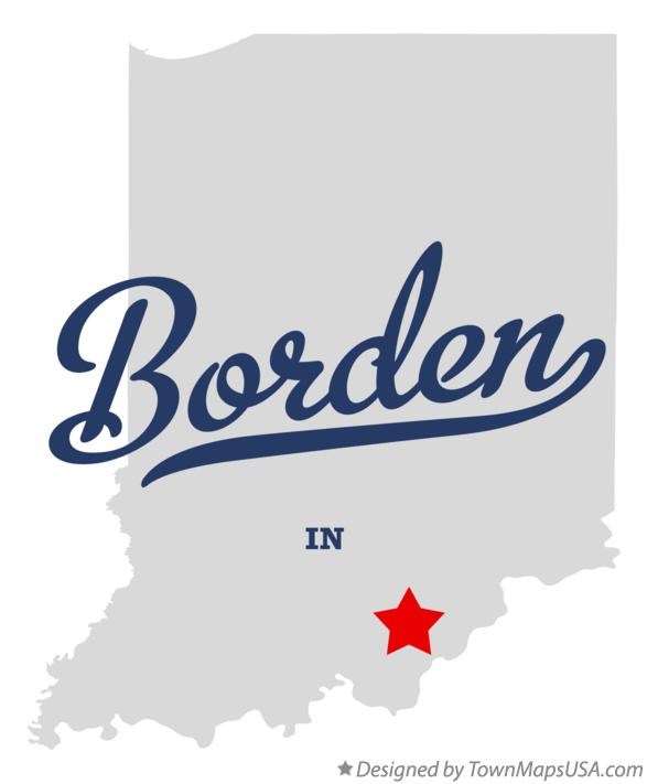 Map of Borden Indiana IN