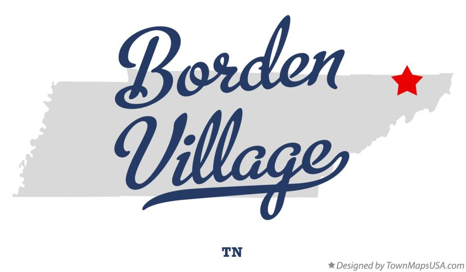 Map of Borden Village Tennessee TN
