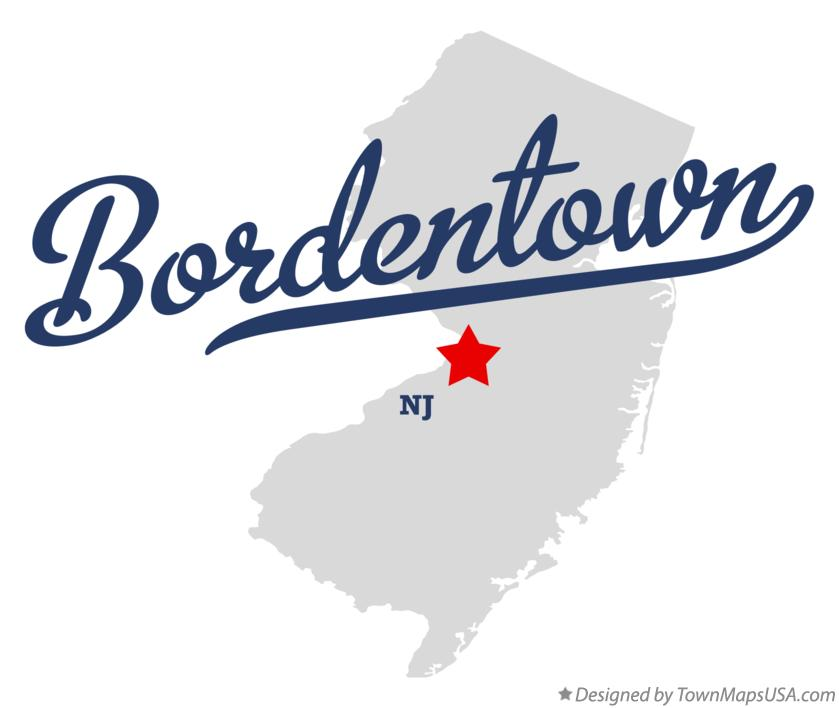 Map of Bordentown New Jersey NJ
