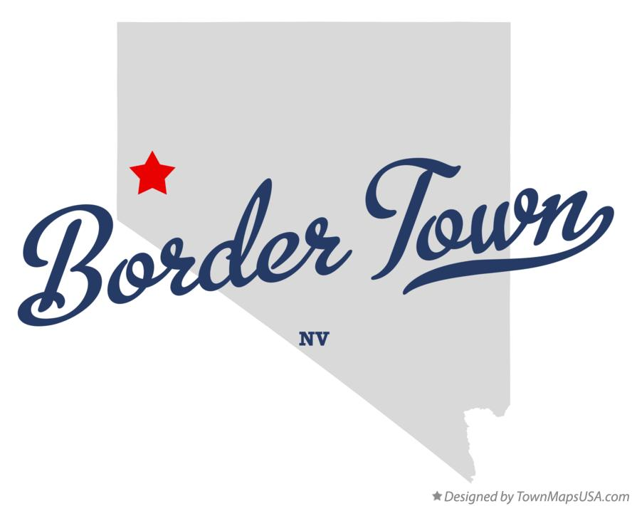 Map of Border Town Nevada NV