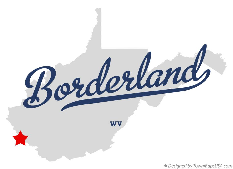 Map of Borderland West Virginia WV