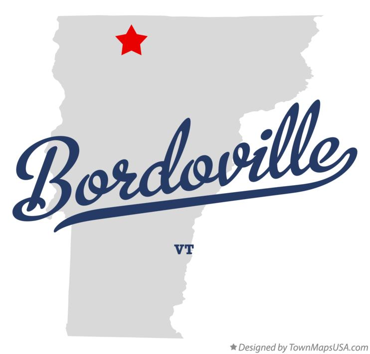 Map of Bordoville Vermont VT