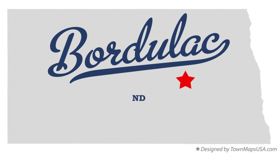 Map of Bordulac North Dakota ND