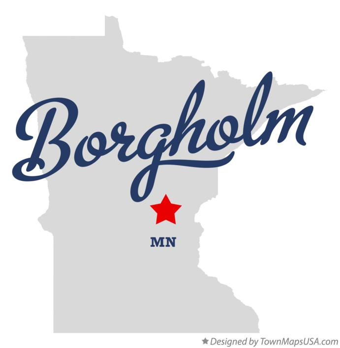 Map of Borgholm Minnesota MN