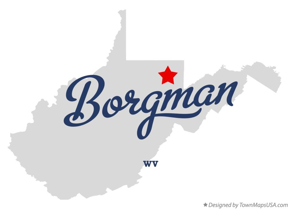 Map of Borgman West Virginia WV