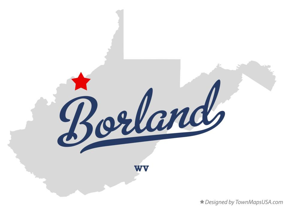 Map of Borland West Virginia WV