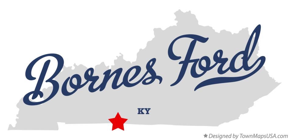 Map of Bornes Ford Kentucky KY
