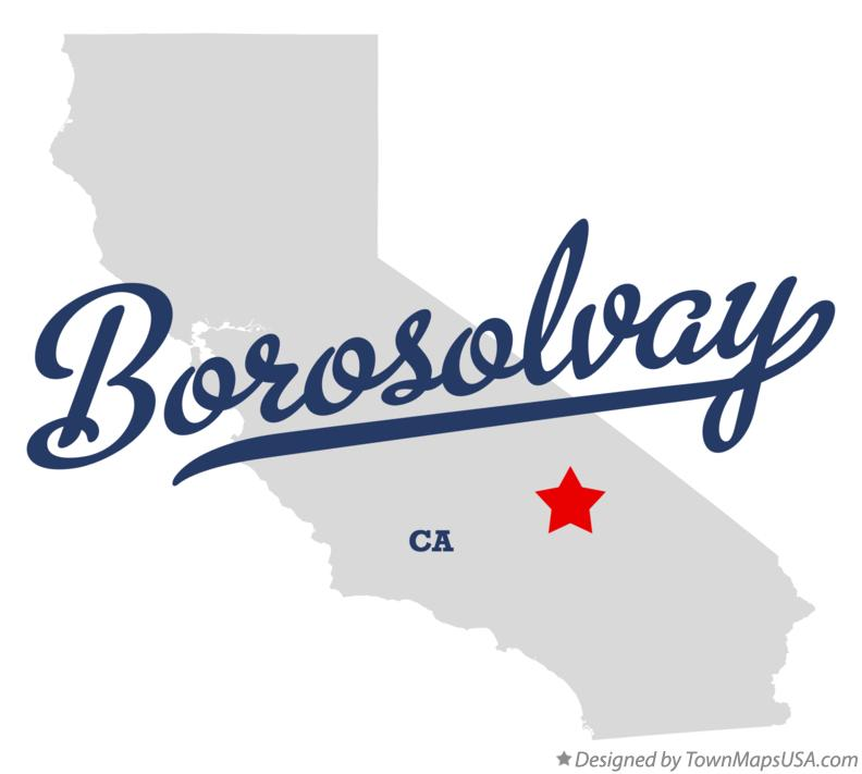 Map of Borosolvay California CA