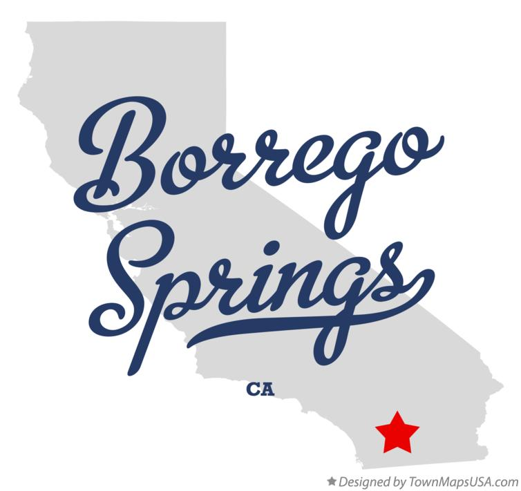Map of Borrego Springs California CA