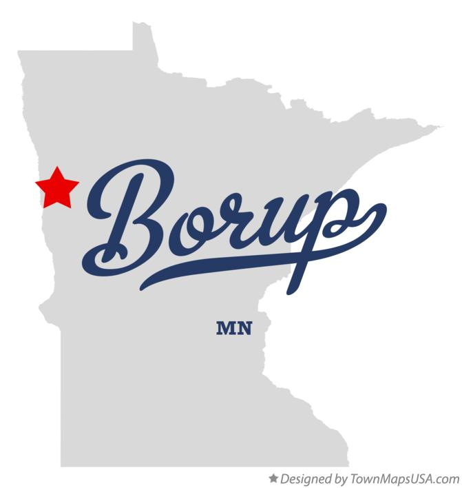 Map of Borup Minnesota MN