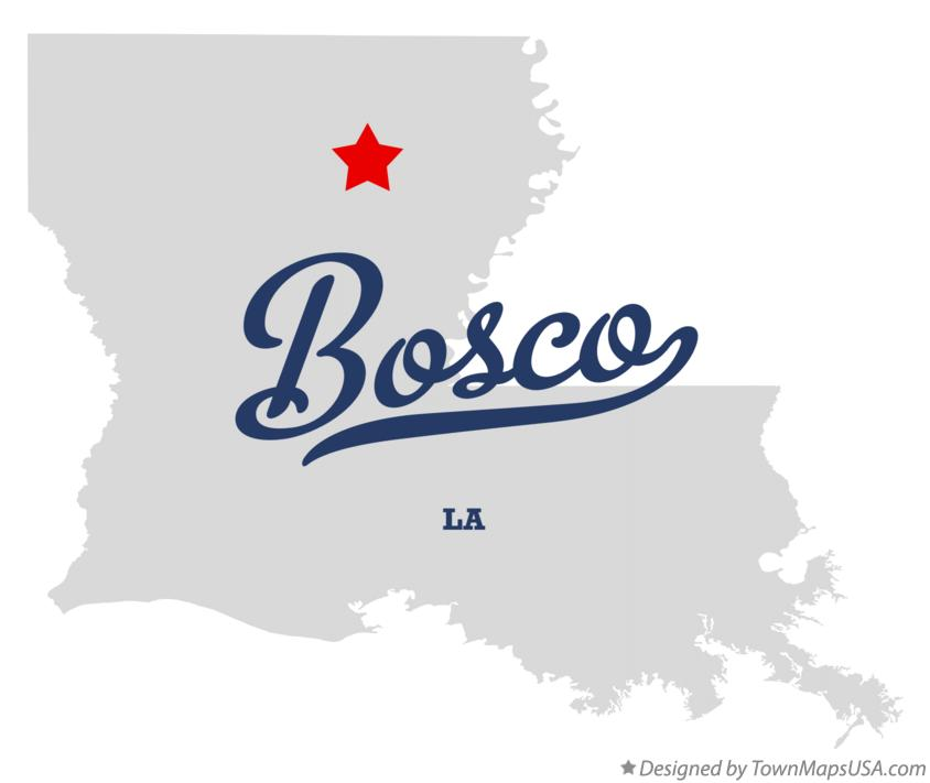 Map of Bosco Louisiana LA
