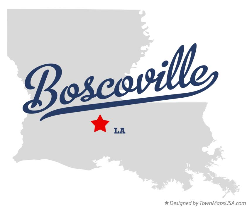 Map of Boscoville Louisiana LA