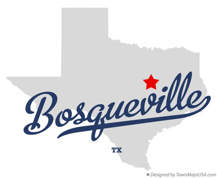 Map of Bosqueville Texas TX