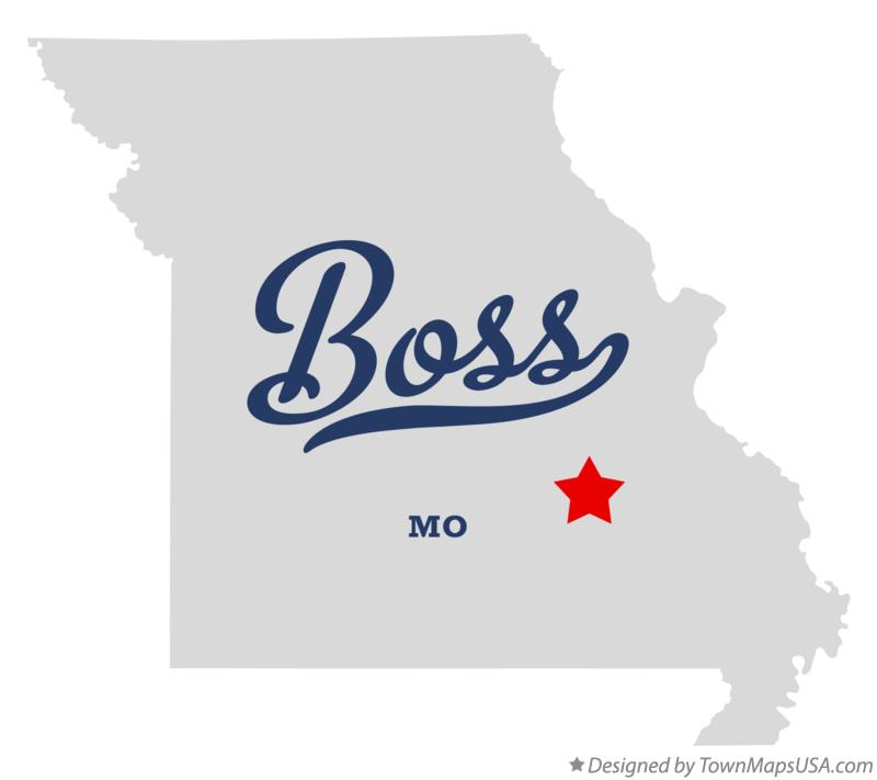 Map of Boss Missouri MO