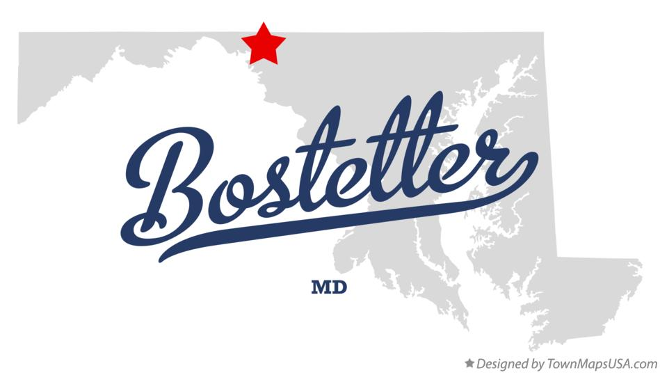 Map of Bostetter Maryland MD