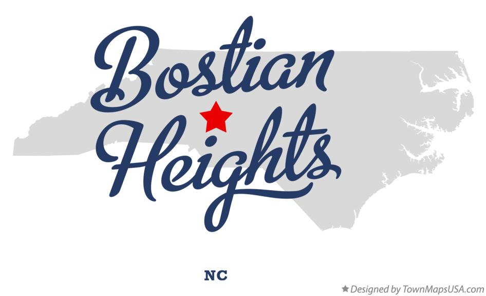 Map of Bostian Heights North Carolina NC