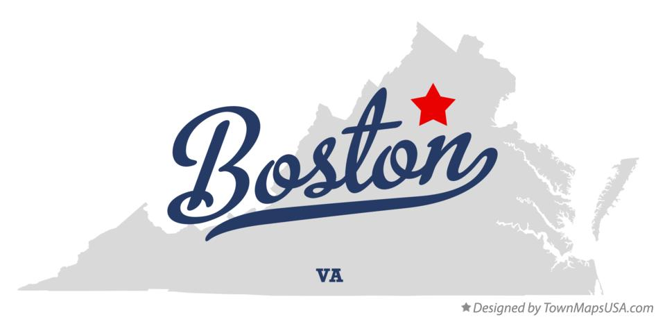 Map of Boston Virginia VA